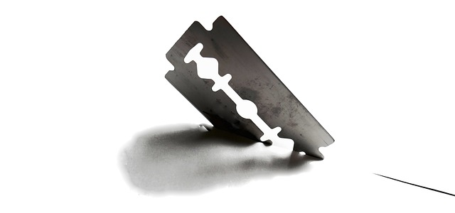 sharp razor blade